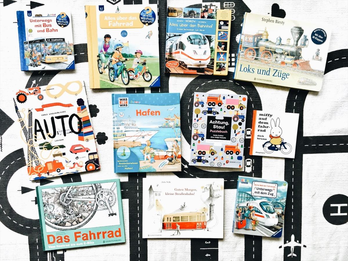 Kinderbuch-Tipps – Unterwegs mit dem Fahrrad und anderen Verkehrsmitteln